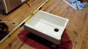Kohler Whitehaven Sink 36 by Warped Kohler Whitehaven Cast Iron Farm Sink Youtube
