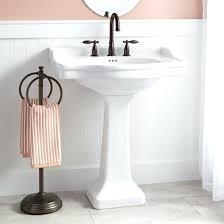 modern pedestal sinks for small bathrooms modern pedestal sink cityshots co