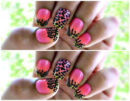 colorful leopard lisa frank inspired nails nubia u0027s nonsense