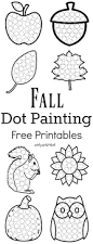 fall dot painting free printables the resourceful mama