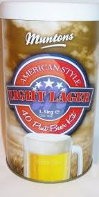 American Light Beer Muntons American Light Lager Beer Kit From The Home Brew Shop