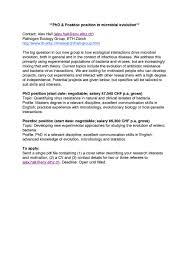 Cover Letter Microbiologist 100 Cover Letter For Phd Positions Letter Of Application Vs