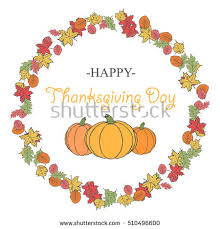 happy thanksgiving day celebration greeting card stock vector