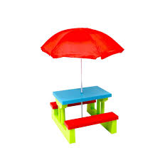 children s outdoor table and chairs kids childrens picnic bench table outdoor furniture with parasol