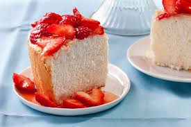 orange angel food cake with strawberries recipe chowhound