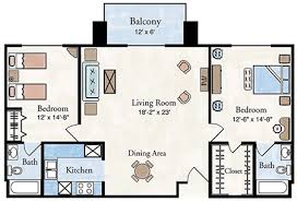 Typical Floor Plans Of Apartments Two Bedroom Apartment Floor Plan Larksfield Place