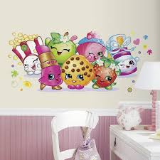 Wallpaper Borders For Bedrooms Shopkins Giant Wall Decal Shopkins Wall Decals And Walls
