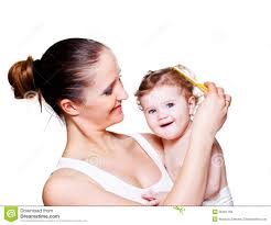 baby hair brushing baby s hair royalty free stock photos image 26461158