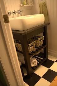 Ikea Hack Vanity Make A Cool Sink Out Of A 50 Ikea Table Diy Bathroom Vanity