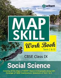 map skill workbook cbse social science 9th term i u0026 ii amazon in