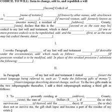sample codicil to will download free u0026 premium templates forms