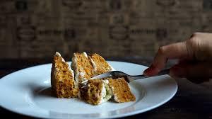 tasty dessert eating finish eating cake piece left over food