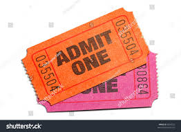 admit one home theater two admit one ticket isolated on stock photo 6253522 shutterstock