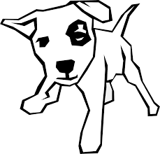 black and white pictures of dogs free download clip art free