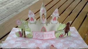 pop up princess castle card youtube