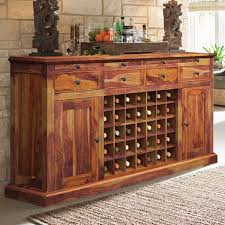 Buffet Bar Cabinet Dallas Ranch Solid Wood Grand Wine Bar Cabinet