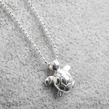 sterling silver necklace pendants images Original sterling silver cute glossy small turtle pendant necklace jpg