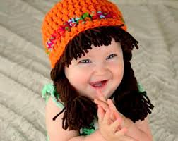 Cabbage Patch Kid Halloween Costume Cabbage Patch Hat Baby Wig Hats Kids Halloween Costume