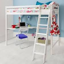 Bunk Bed With Desk Ebay Childrens And Teenagers High Sleeper Bed With Futon Style Bed