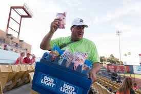 bud light vendor costume for 10 years beer snack vendor keeps las vegas baseball crowds