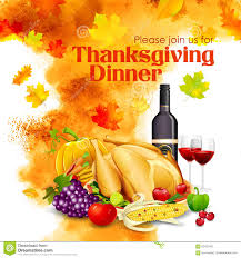 happy thanksgiving dinner celebration stock vector image 62427587