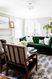 Teal Tufted Sofa by Best 25 Green Sofa Ideas On Pinterest Green Living Room Sofas