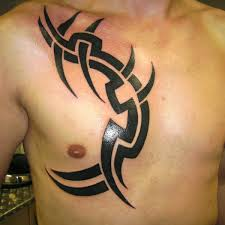 basic tribal tattoo tribal chest tattoo on tattoochief com
