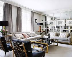 Gray And Gold Living Room by Interiors An Elegant Living Room In Black Gray And Gold U2014 Sukio