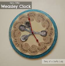 diary of a crafty lady harry potter weasley family clock all