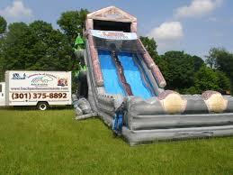 maryland inflatable water slide rentals backyardamusements com