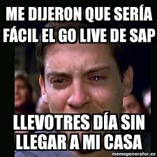Sap Memes - meme crying peter parker me dijeron que ser祗a f磧cil el go live