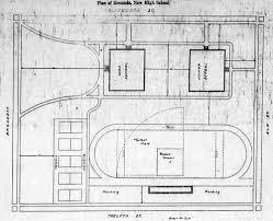 pittsburg scenes pittsburg high schools phs grounds plan newspaper photo 1920