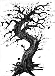 35 gothic tree tattoos black and grey gothic tree without leaves tattoo design by darth jer