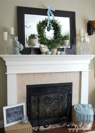 Mantel Topiaries - three easter mantels u0026 other easy easter decorating ideas