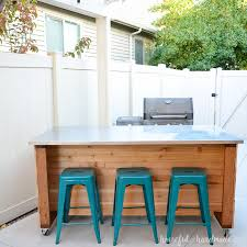 how to build an outdoor kitchen island outdoor kitchen island build plans a houseful of handmade