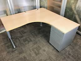 Curved Floor L L Shape Computer Desk Radial Corner Desks Curved Office
