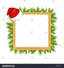 framework photo hat santa claus furtree stock vector 64751608