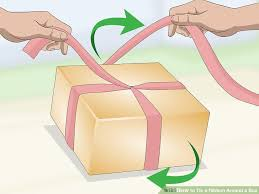 wrapping ribbon 3 ways to tie a ribbon around a box wikihow