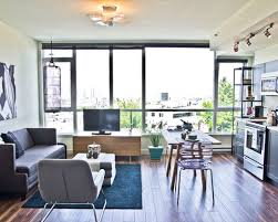 living room minimalist apatrment design with small family room