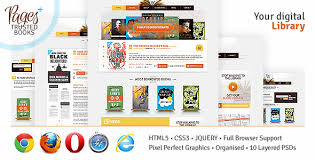 html5 templates for books pages plus by nikini themeforest