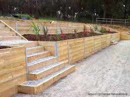 Backyard Retaining Wall Ideas Timber Retaining Wall Design Mesmerizing Timber Retaining Wall