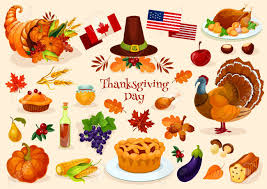 thanksgiving day vector elements of thanksgiving celebration