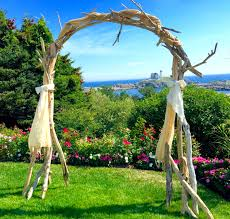 wedding arches made of tree branches driftwood wedding arch arbor self standing maine driftwood