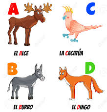 spanish animal clipart collection