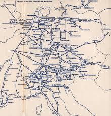 Eurostar Route Map by Holland Dutch Train Rail Maps
