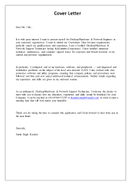 it support technician cover letter support engineer cover letter