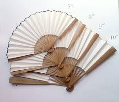bamboo fan bamboo joints rice paper fan white diy