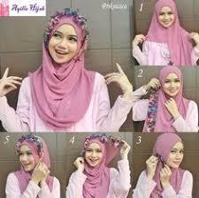 tutorial jilbab segi 4 untuk kebaya 4 tutorial hijab segi empat paris rawis wisuda pesta kondangan