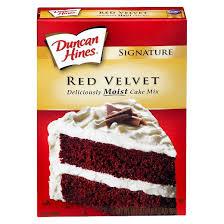 duncan hines red velvet cake mix 16 5 oz target