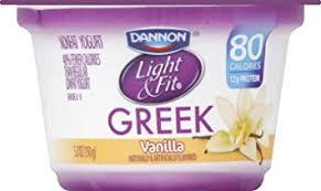 light and fit vanilla yogurt dannon light fit greek vanilla nonfat yogurt 5 3 oz amazon com